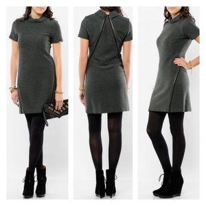 Theory Vyla Comfort Dress I'm charcoal